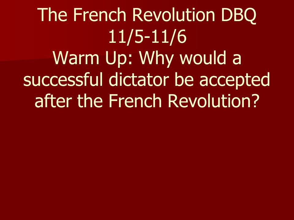 To What Extent Was the French Revolution Successful?
