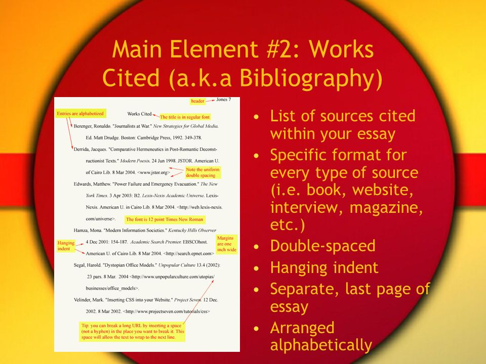 Bibliography format books