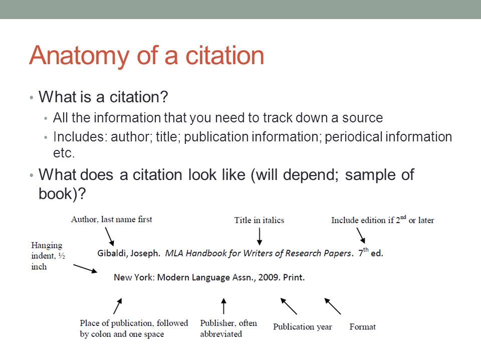 What is a source citation?