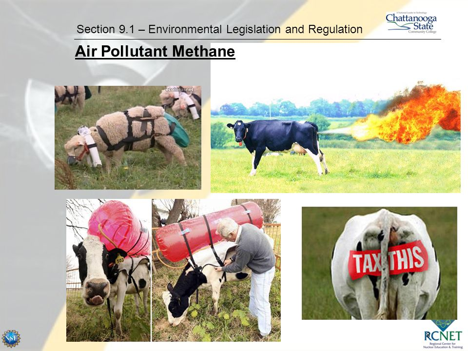 8 Section 9.1 – Environmental Legislation and Regulation Air Pollutant Methane