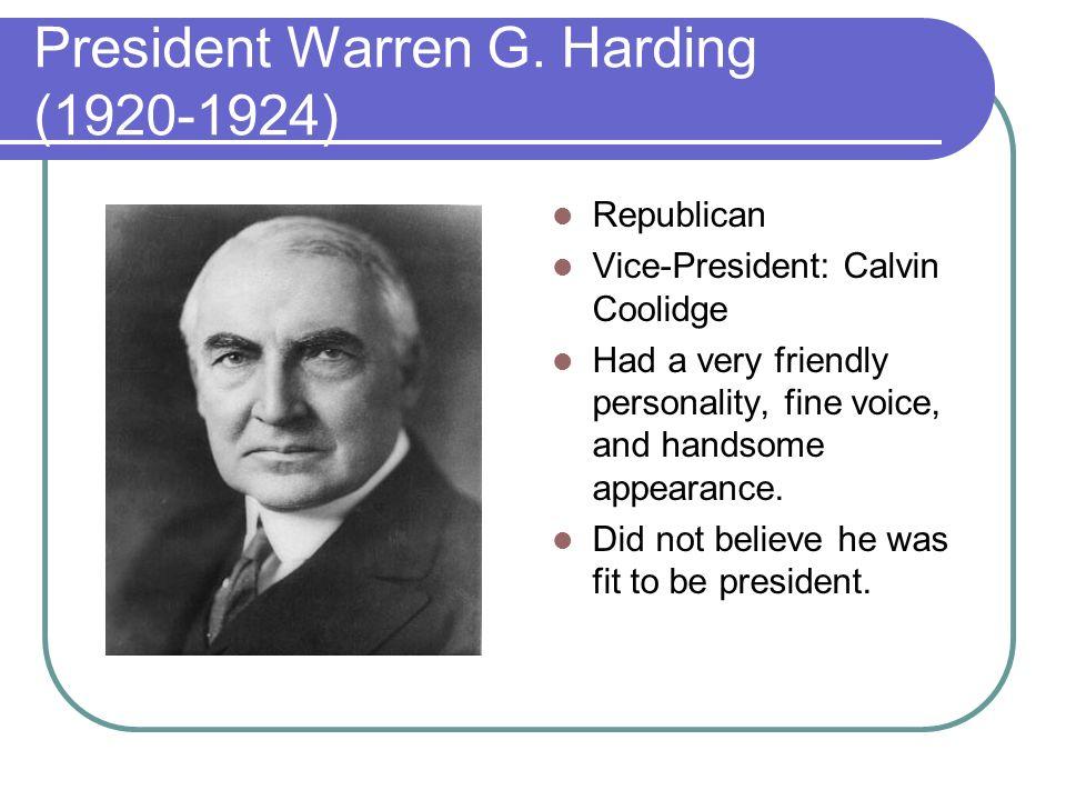 warren g harding president essay