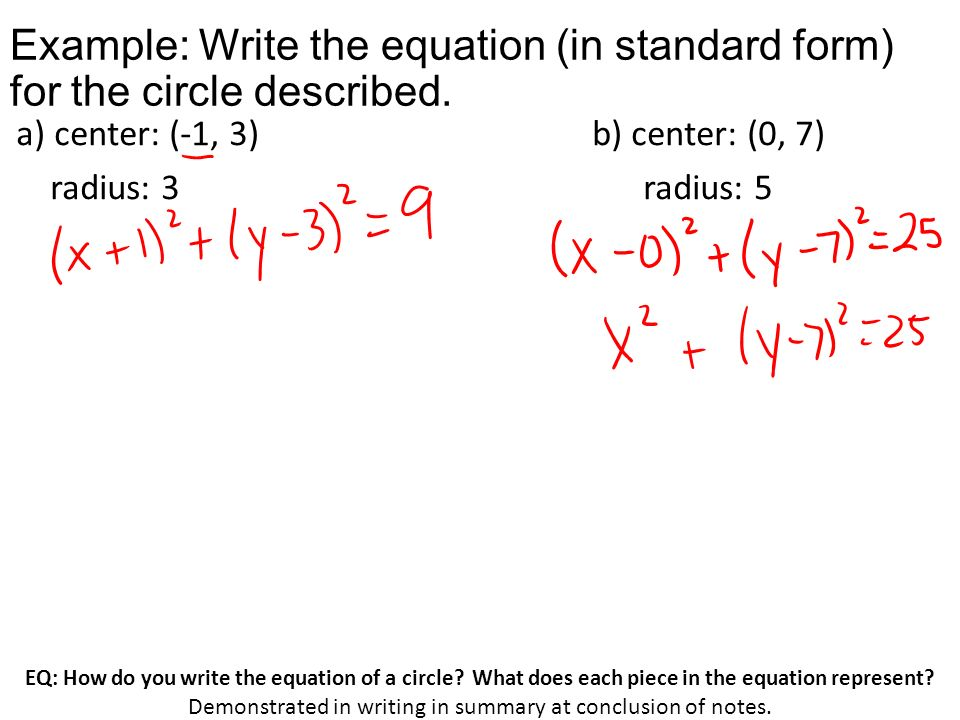 Write The Equation Of A Circle Coursework Academic Writing Service