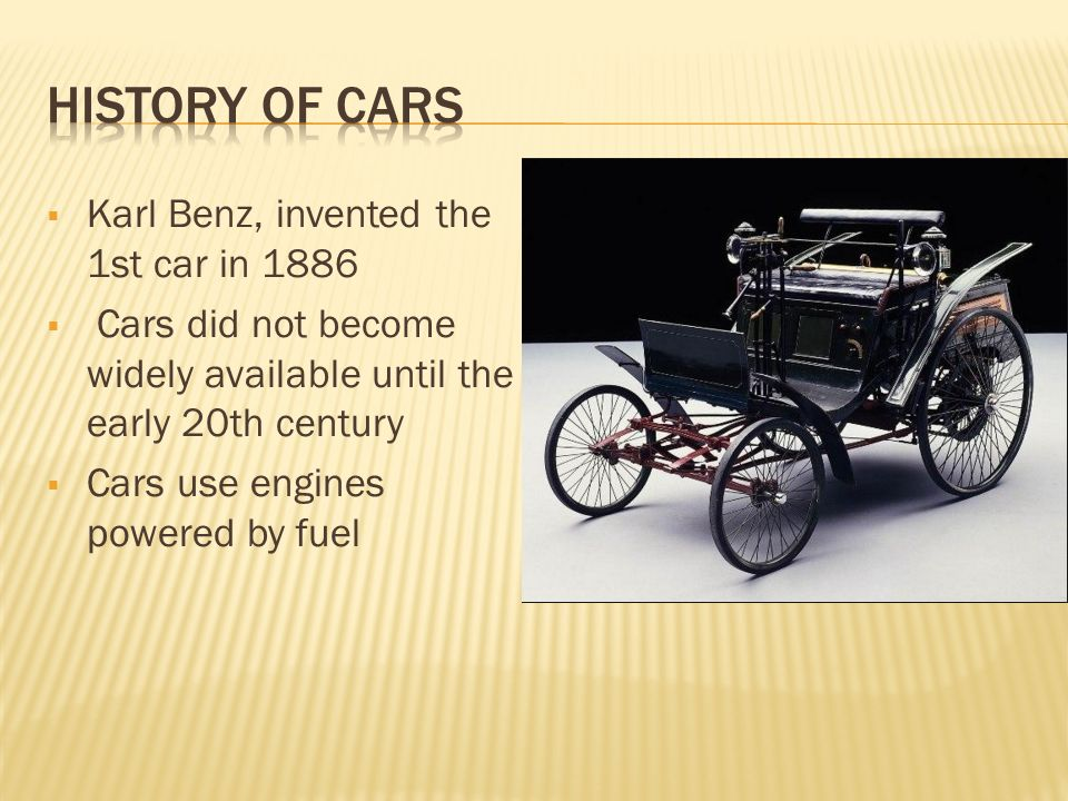 Contemporary Who Invented The Car And When Picture Collection ...