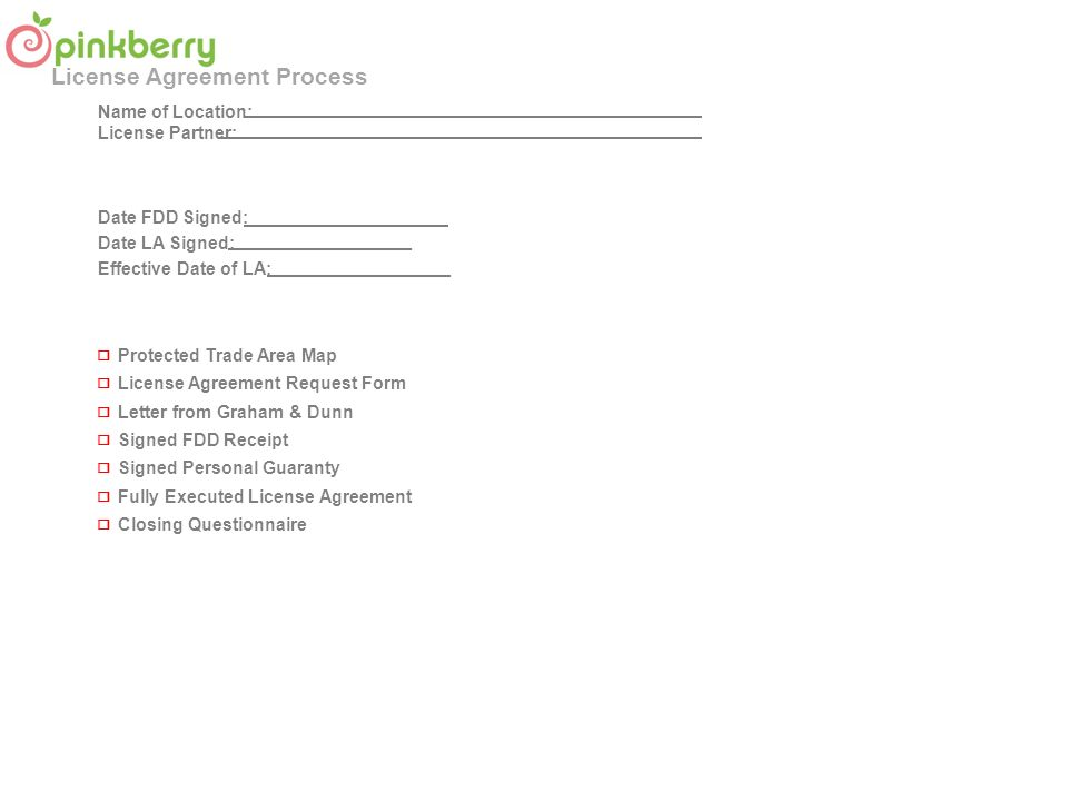 License agreement process business development license agreement 7 protected trade area map license agreement platinumwayz