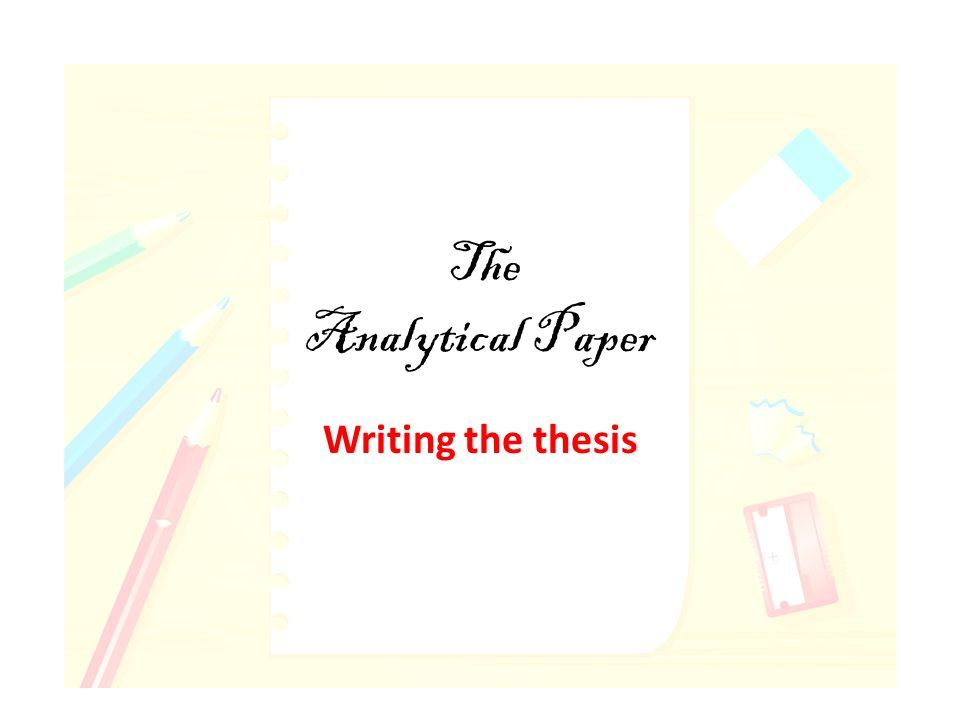 thesis art analysis paper
