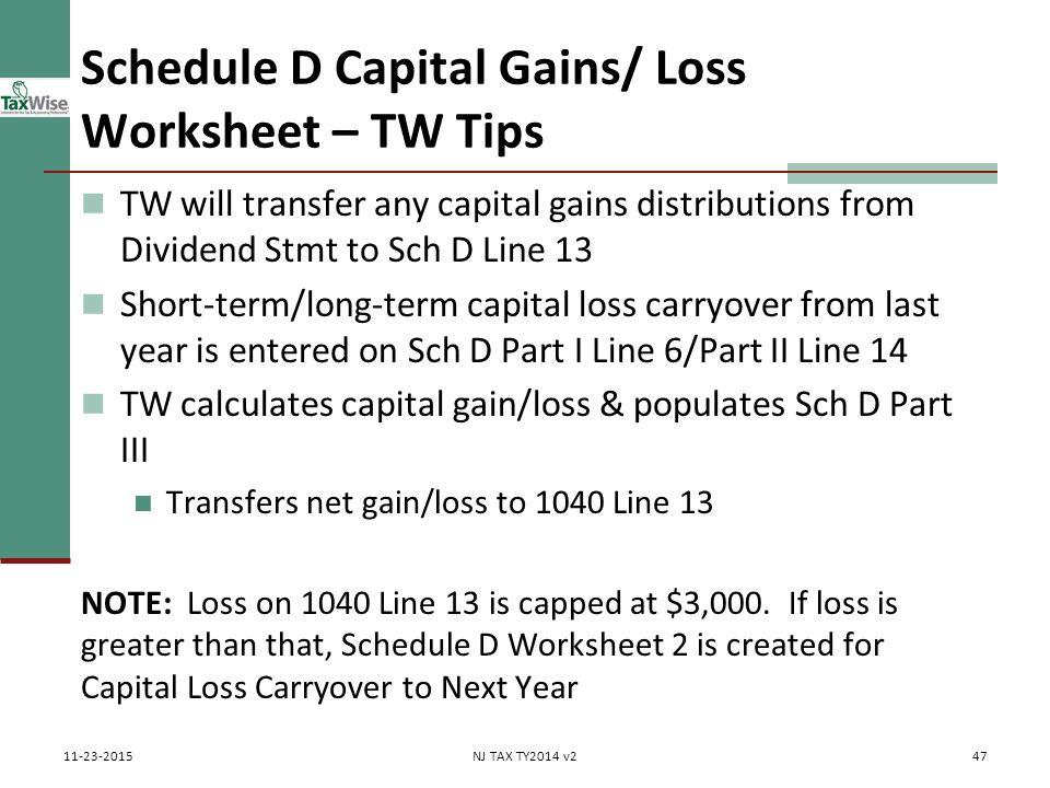 capital gains tax worksheet 2014 Termolak – Capital Gains Worksheet 2014