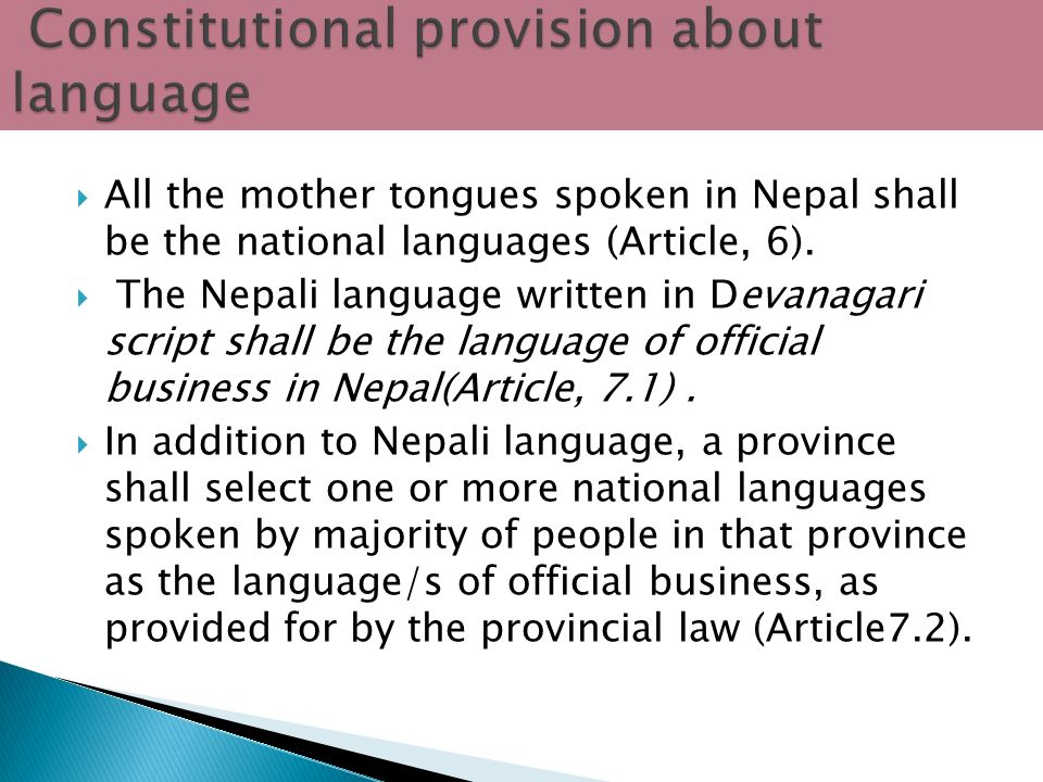 Bal mukunda bhandari tribhuvan university kathmandu nepal ppt all the mother tongues spoken in nepal shall be the national languages article altavistaventures Images