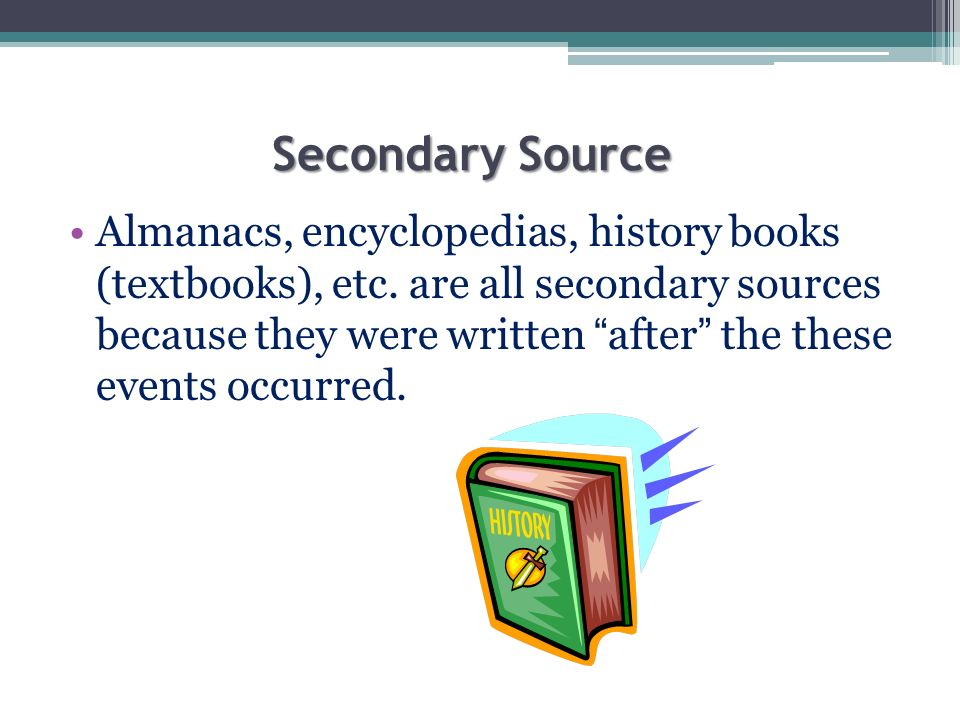 How do you write a secondary source in a bibliography?