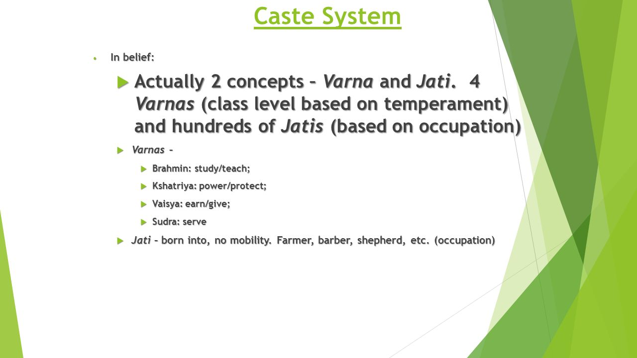 varna and jati