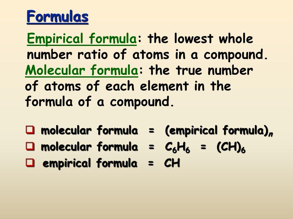 Empirical and Molecular Formulas Formulas molecular formula – Molecular Formulas Worksheet