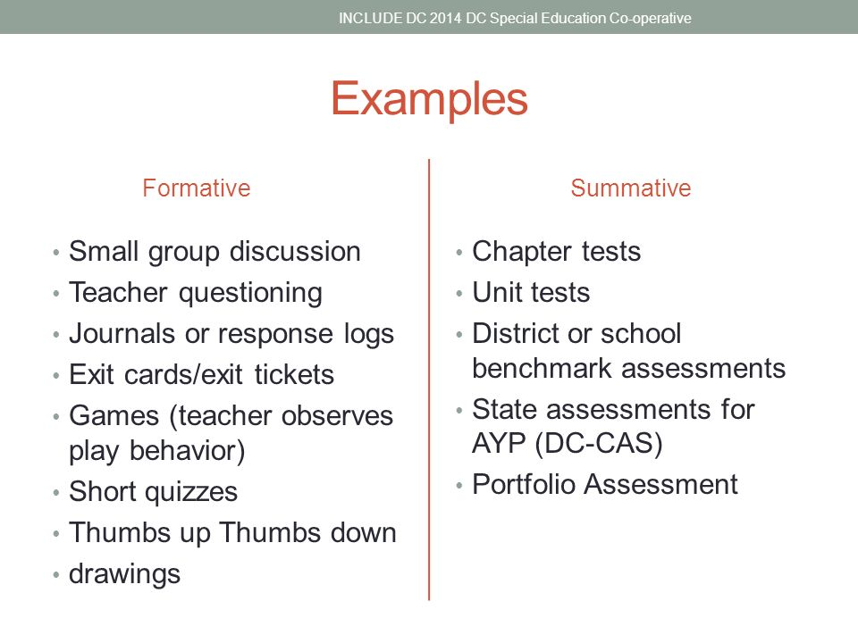 Formative And Summative Assessment Include Dc    Webinar