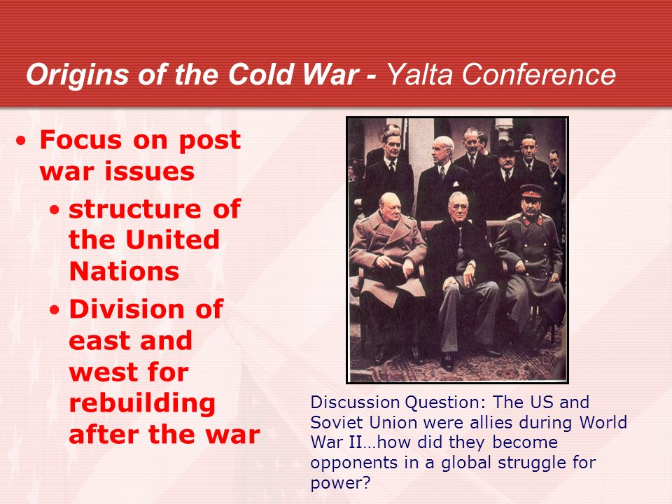 how did the cold war begin Document-based question how did the cold war begin and what'weaponso were used to fight it historical context: between l945 and 195o the wartime alliance between the united states and the soviet union broke.