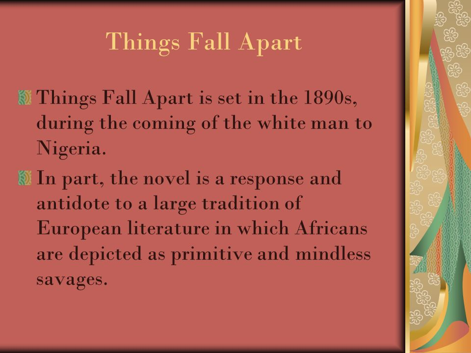 things fall apart by chinua achebe chinua achebe born on  5 things fall apart