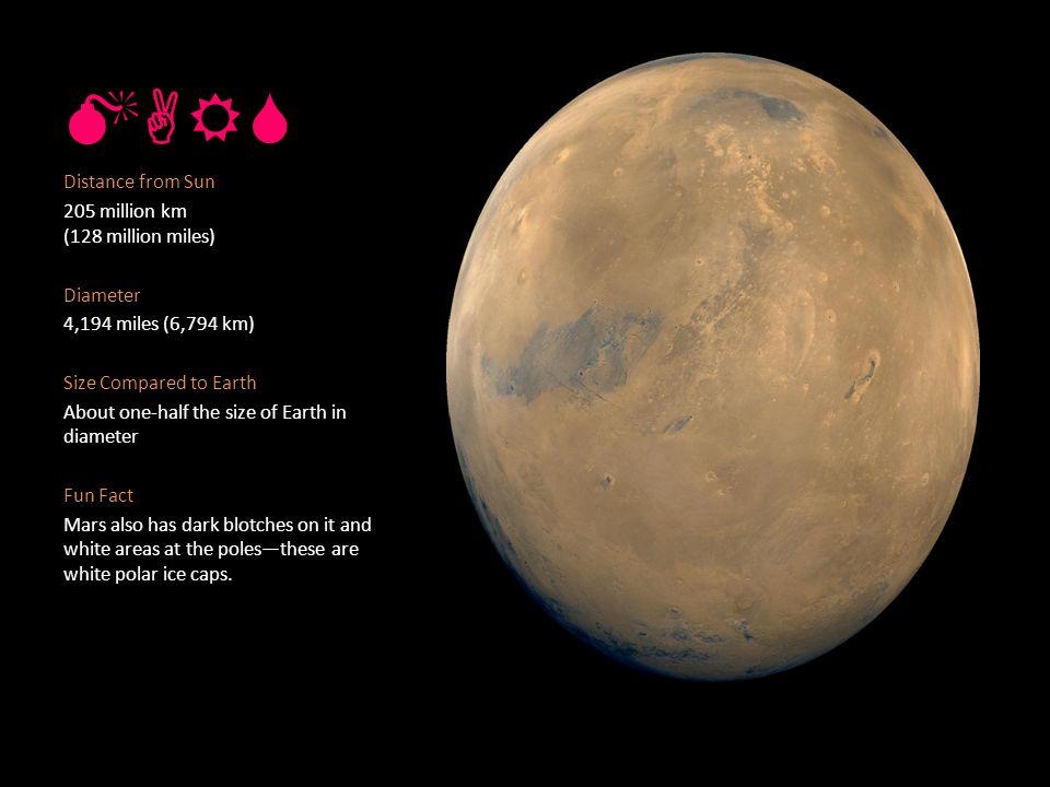 MERCU RY Distance from Sun 36 million miles (57.9 million km ...