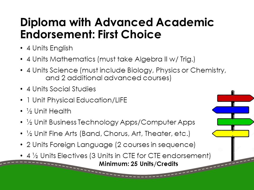 What is a diploma with advanced academic endorsement?