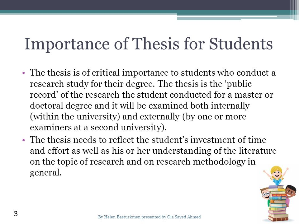 Significance of the study thesis