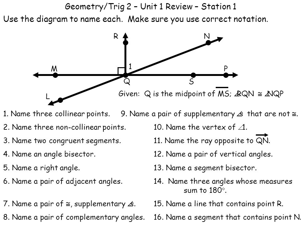 Worksheets Geometry In All Diagram And Name geometry in all diagram and name virallyapp printables worksheets geometrytrig 2 unit 1 review station use the diagram