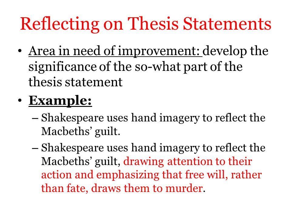 Thesis Statement On Guilt In Macbeth