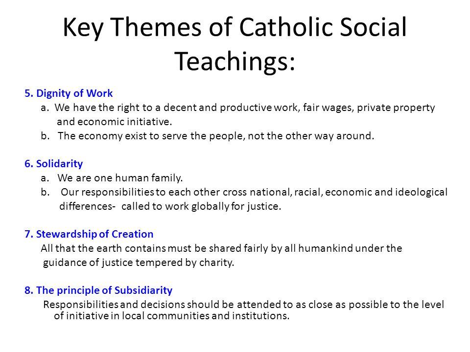 Social Teachings Of The Catholic Church - Lawteched