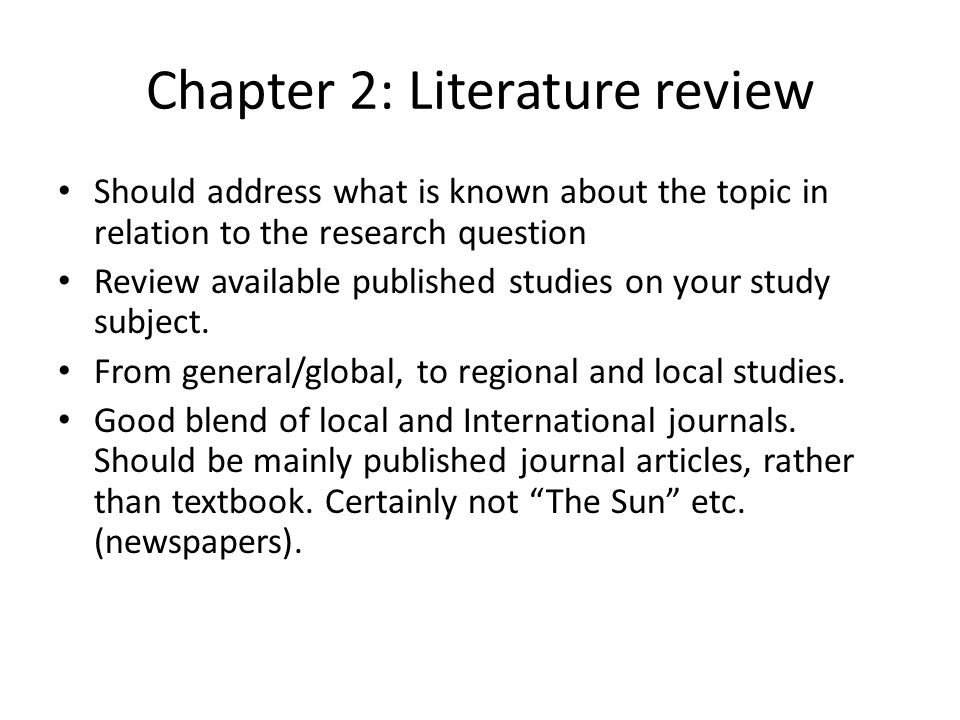 How To Write A Dissertation Literature Review