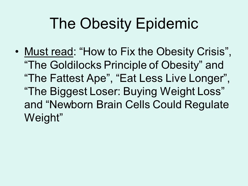 annotated bibliography for obesity