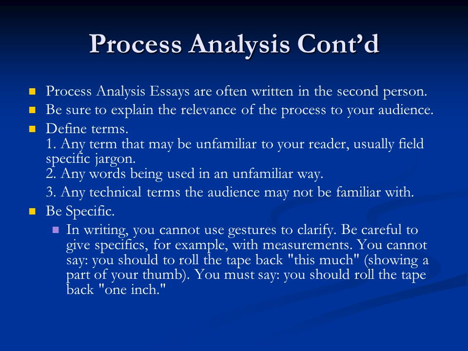 Process Of Analysis Essay