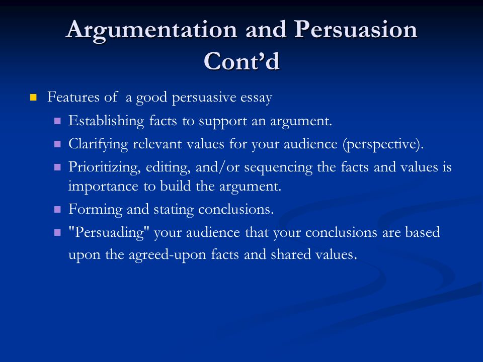 Format Of An Argumentative Essay