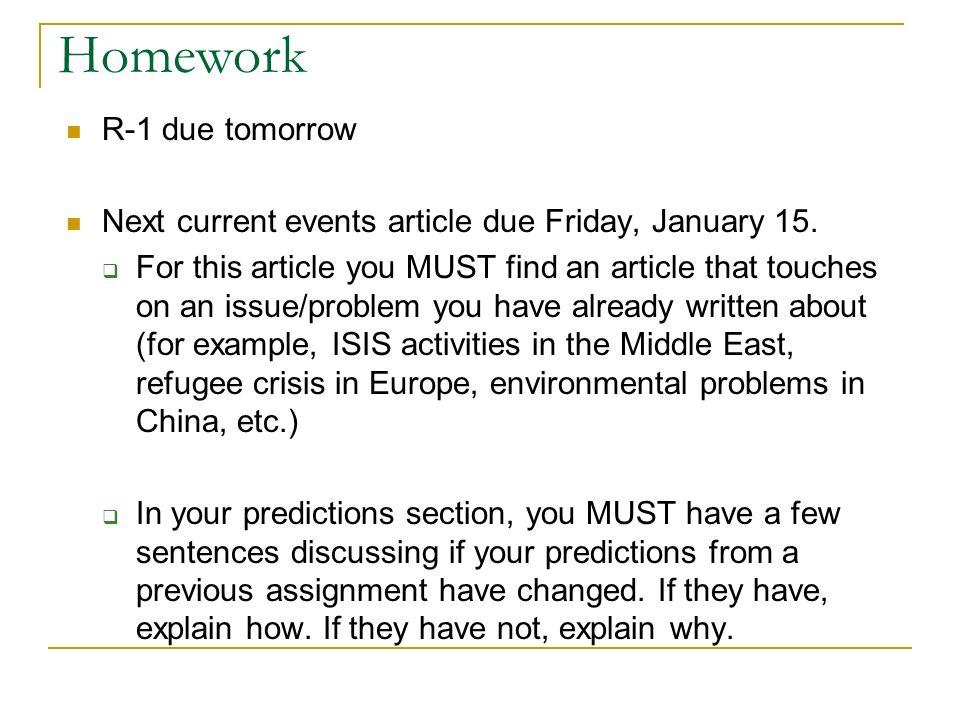 Current events for kids homework