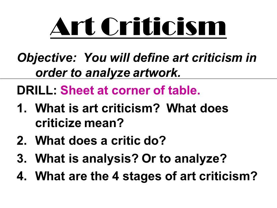 Define critic