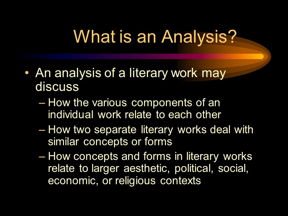 Writing The Literary Analysis What Is Literary Analysis It Is