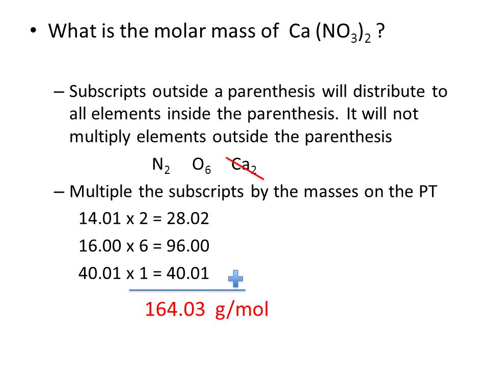 what is the molar mass of ca no 3 2 - Periodic Table Atomic Mass In Parentheses