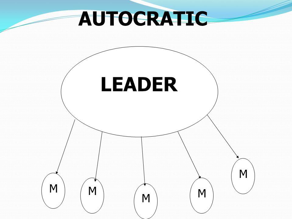 LEADER M M M M M AUTOCRATIC