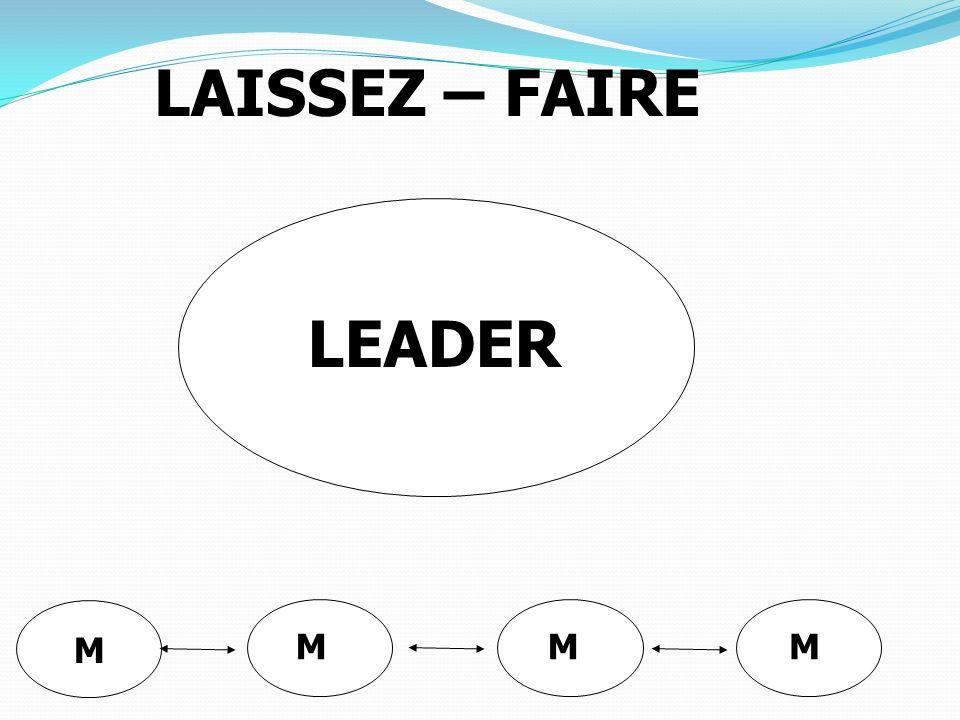 LEADER MMM M LAISSEZ – FAIRE