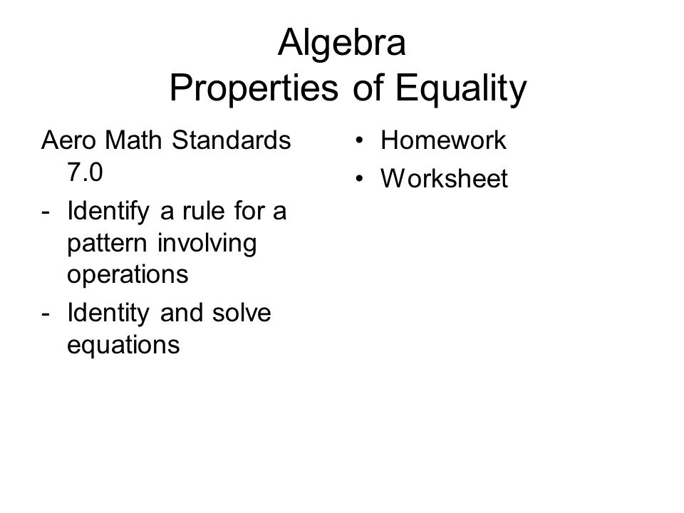 Addition Properties Of Equality Worksheets addition properties – Addition Property of Equality Worksheets