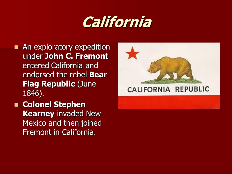 California An exploratory expedition under John C.