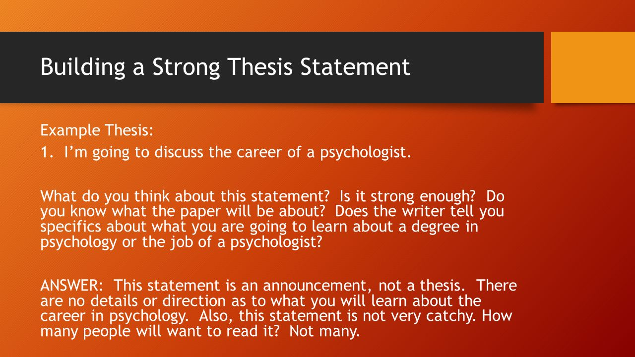 directional statement and thesis What is a thesis statement your wise thesis statement is a directional signpost it provides clarity, focus, and direction to.