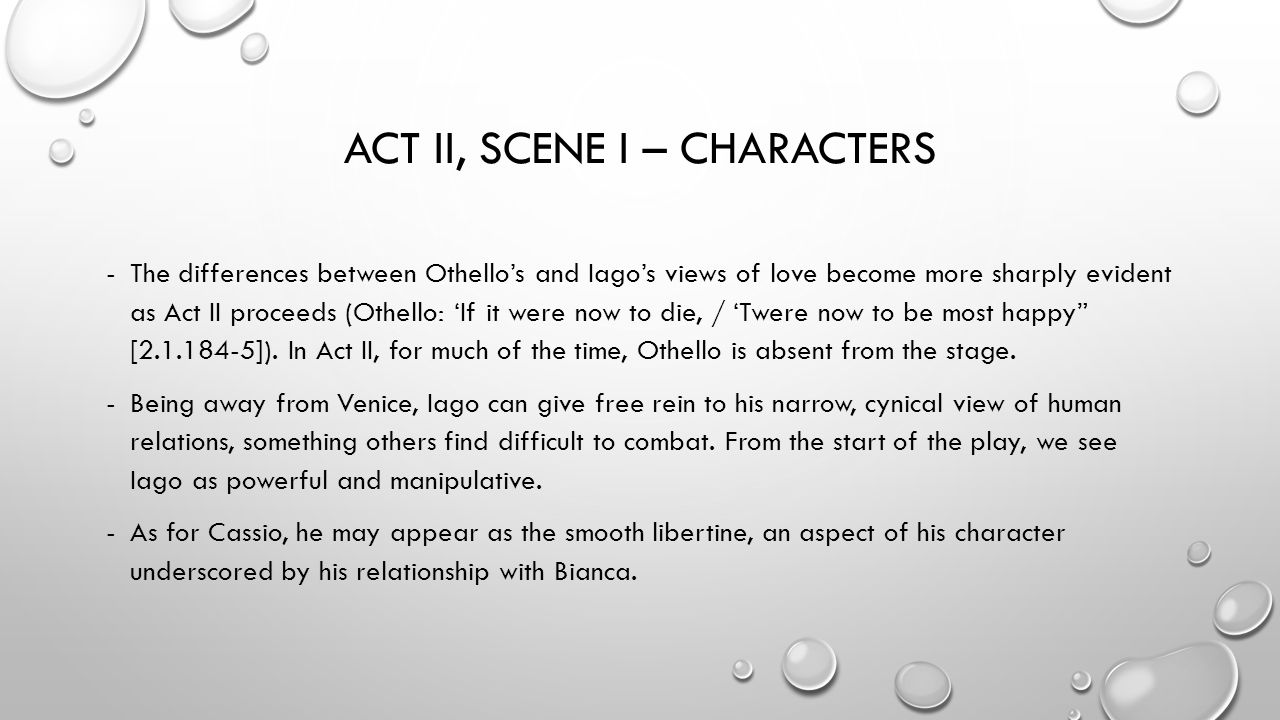 an analysis of character in a play othello