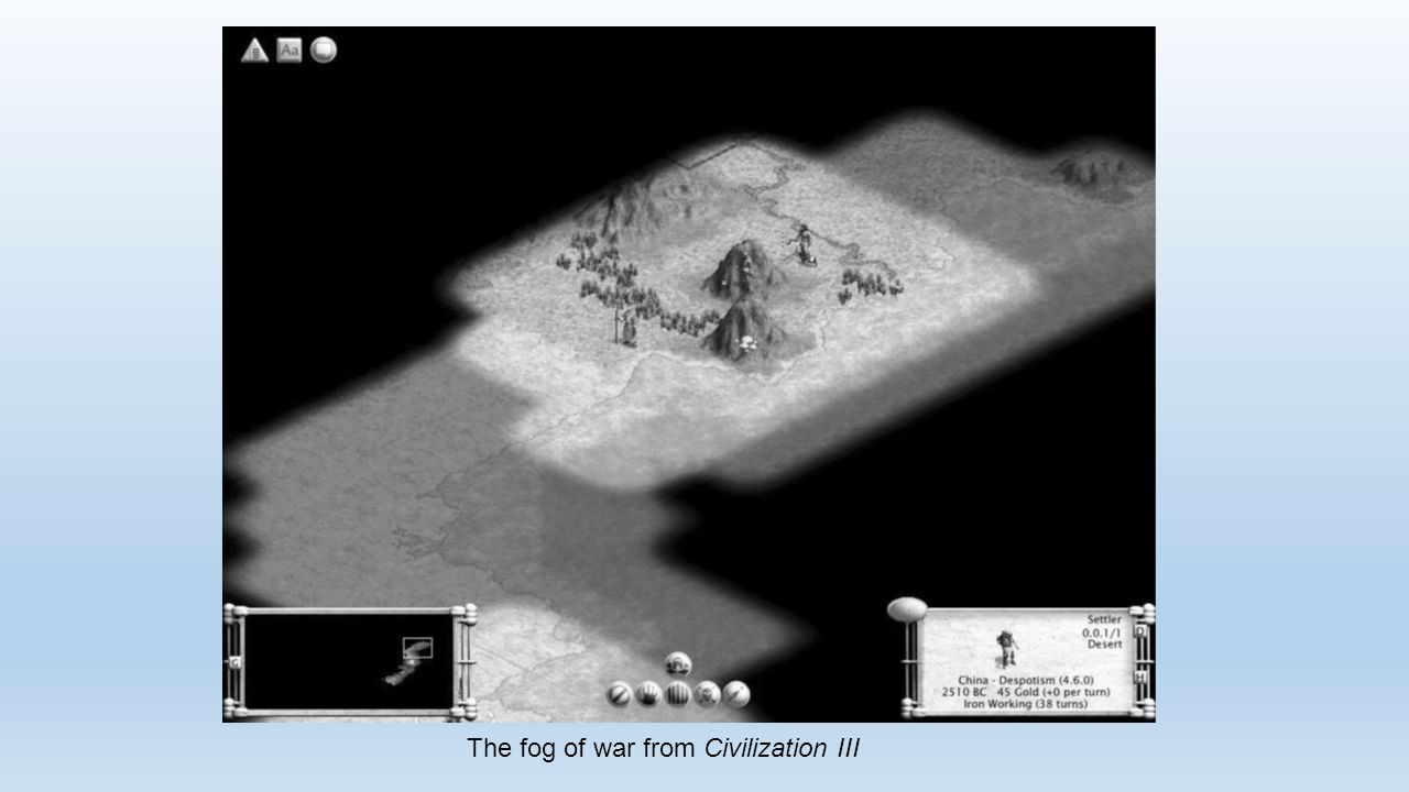 The fog of war from Civilization III