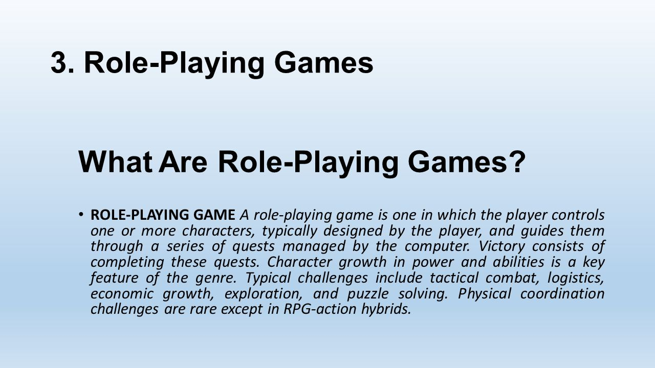 What Are Role-Playing Games.