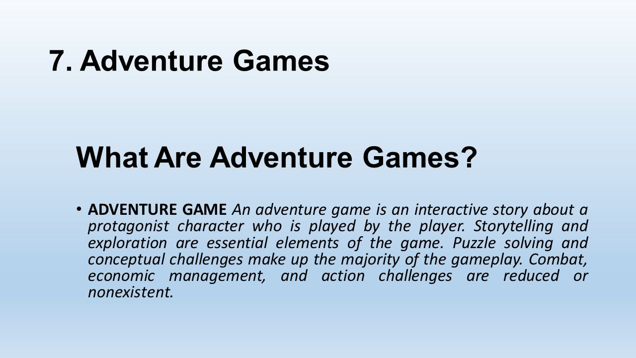 What Are Adventure Games.