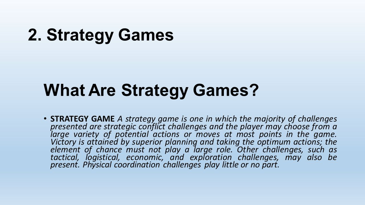 What Are Strategy Games.