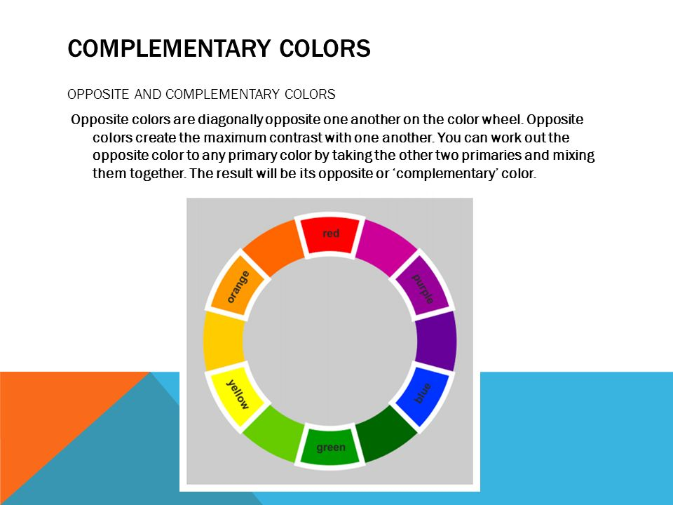 8 COMPLEMENTARY COLORS OPPOSITE