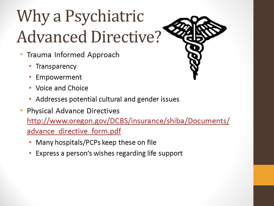 Advanced Directives Sharing Your Choices In Case Of Crisis  Ppt