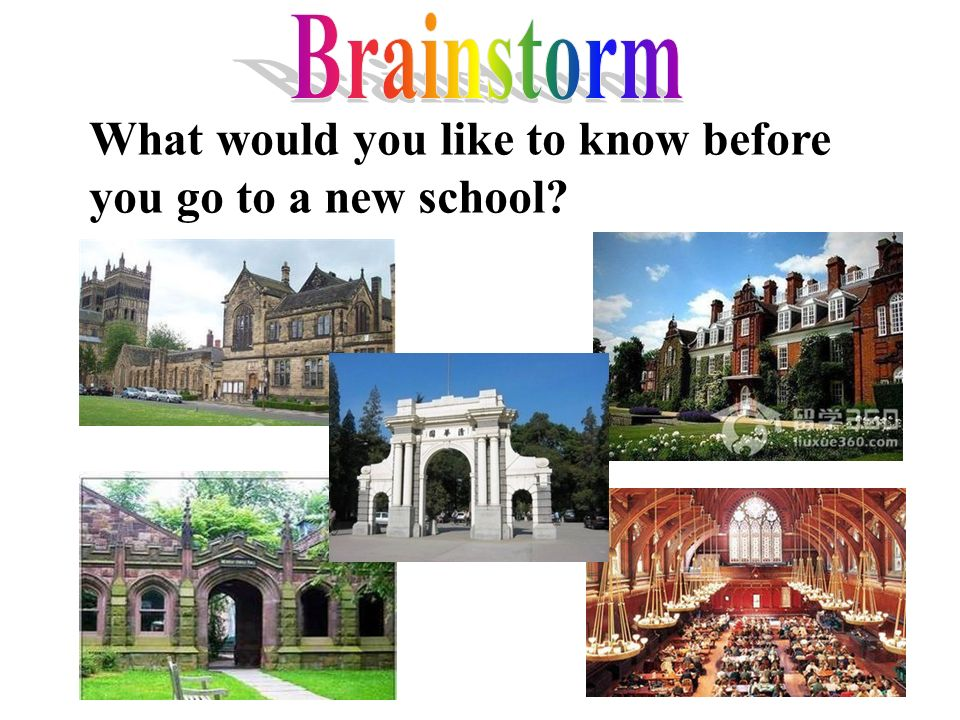 What would you like to know before you go to a new school