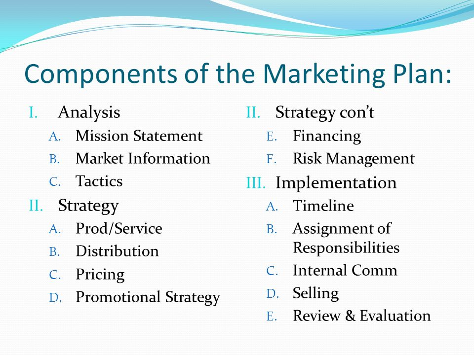 Sports & Entertainment Marketing Chapter 6. The Marketing Plan
