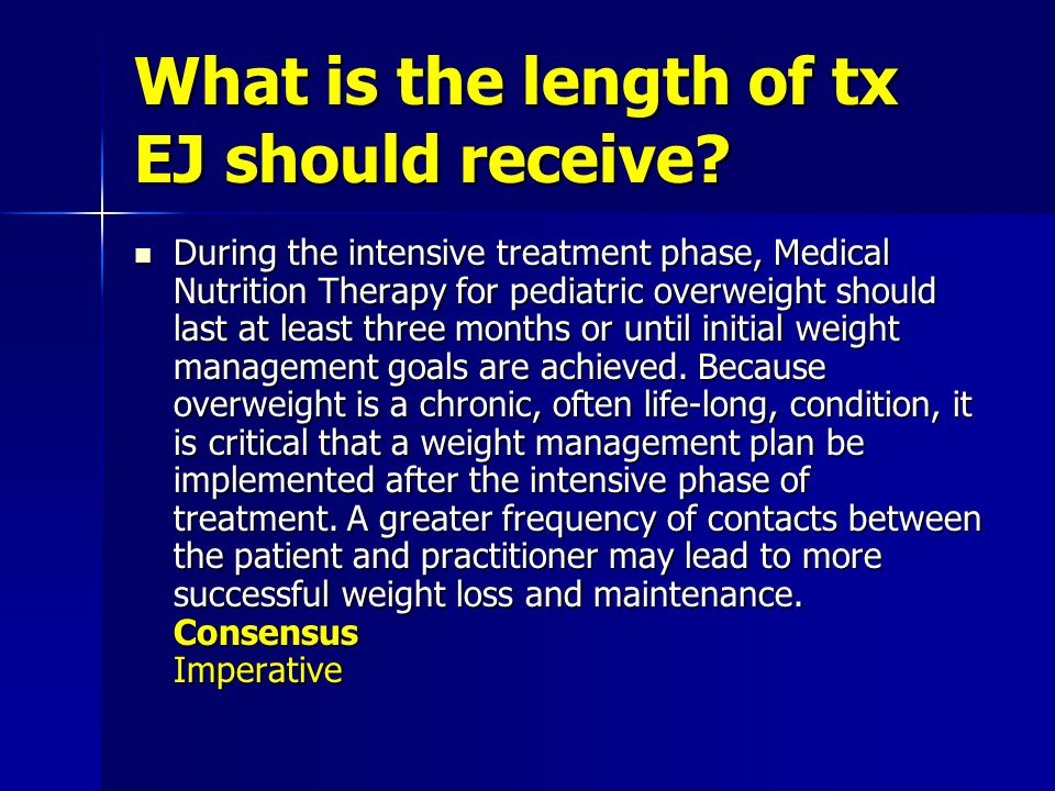 What is the length of tx EJ should receive.