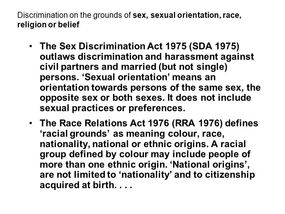 Race and sex discrimination