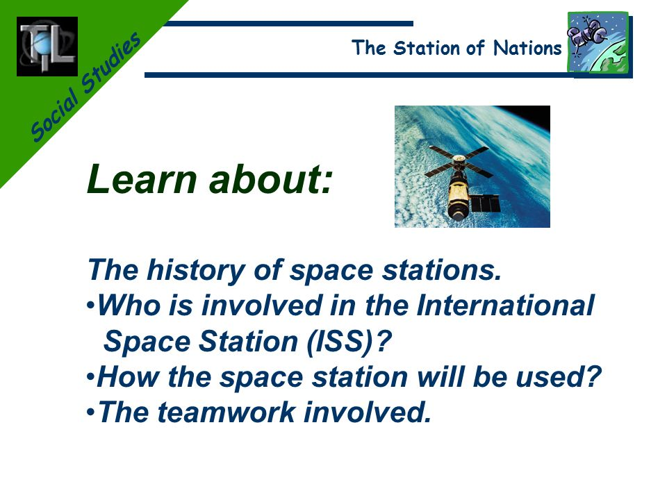 Social Studies The Station of Nations. Social Studies The Station ...