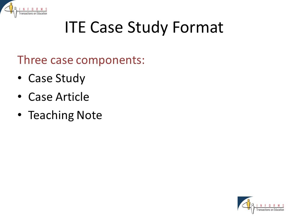 Teaching Cases in INFORMS Transactions on Education Jill Wilson ...