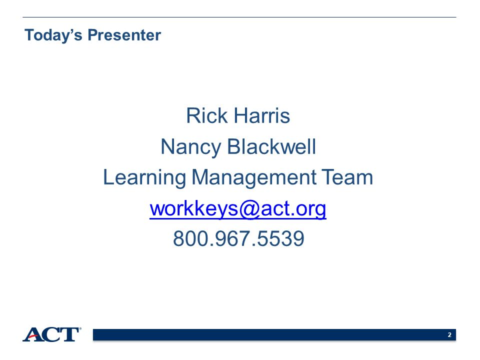 Introduction to ACT WorkKeys ® Online Test Administration. - ppt ...